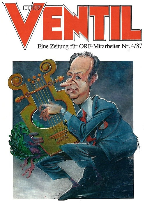 Siegbert Metelko am Cover des Ventil