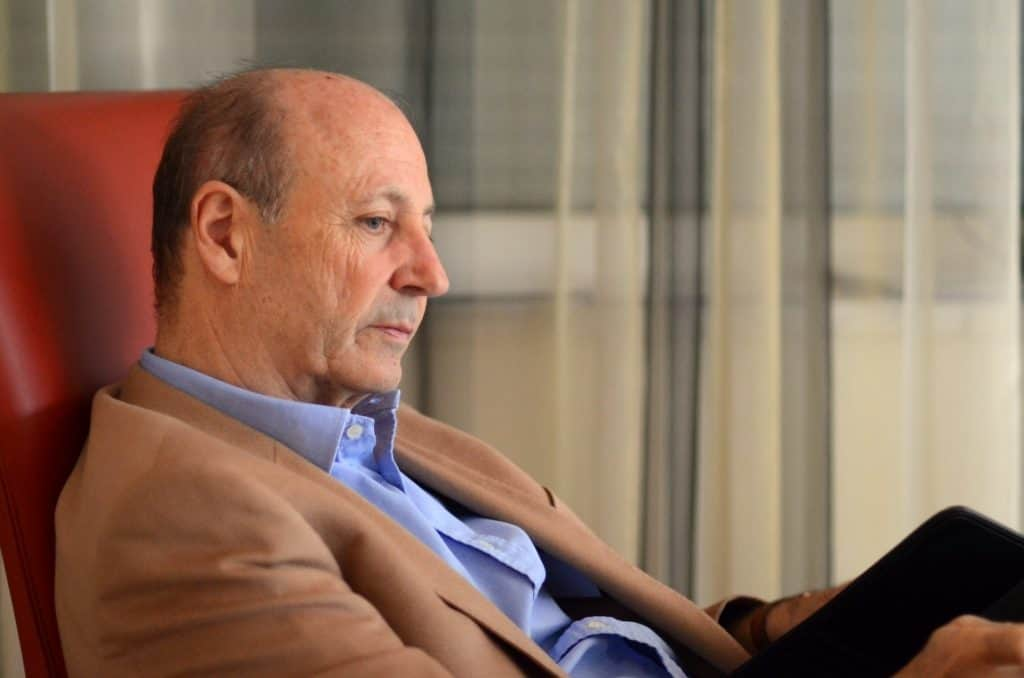 Siegbert Metelko sitzend