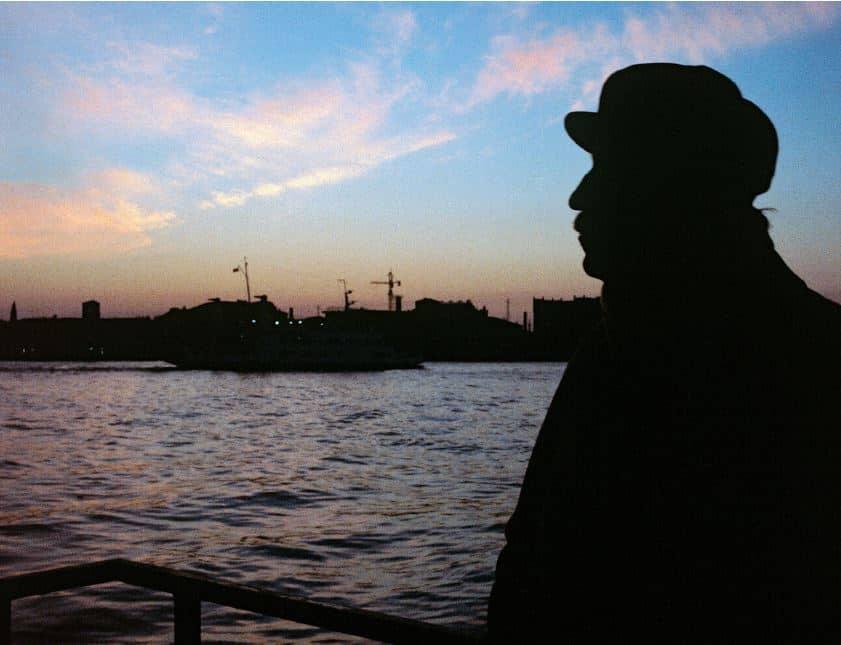 Zoran Music im Sonnenuntergang von Venedig