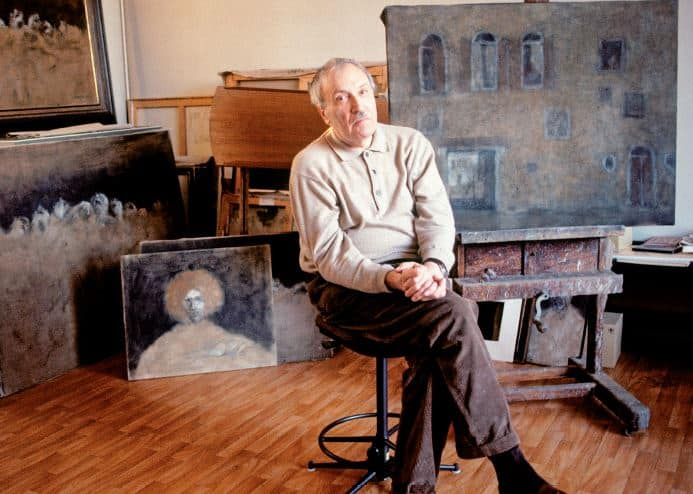 Zoran Music in his studio