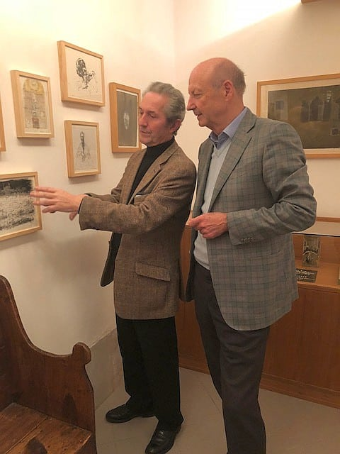 Siegbert Metelko and gallery owner Herve Bordas