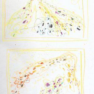 1963: Cortina | Buntstifte auf Papier (26,9 x 21,1 cm)