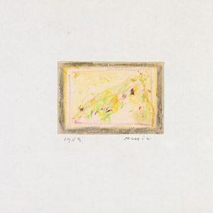 1963: Cortina | Buntstifte auf Papier (13,5 x 20,8 cm)