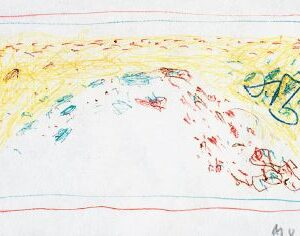 1963: Cortina | Buntstifte auf Papier (5,3 x 9 cm)