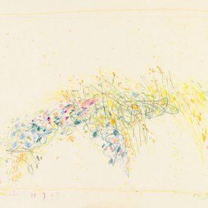 1963: Cortina | Buntstifte auf Papier (24,4 x 33,7 cm)