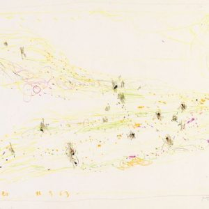 1963: Cortina | Buntstifte auf Papier (24,6 x 34 cm)