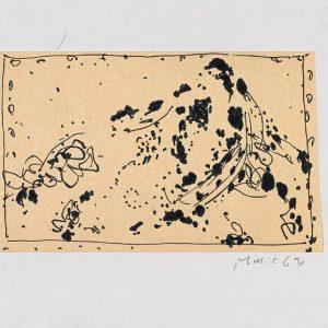 1963: Cortina | Tusche auf Papier (13,4 x 20,9 cm)