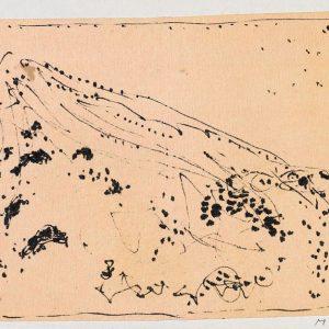 1963: Cortina | Tusche auf Papier (13,4 x 19,5 cm)
