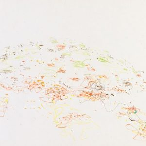 1964: Cortina | Buntstifte auf Papier (25 x 34,4 cm)
