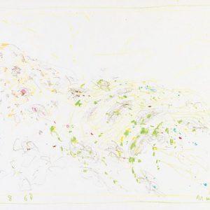 1964: Cortina | Buntstifte auf Papier (24,9 x 35,1 cm)