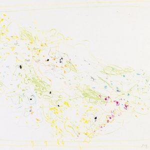 1964: Cortina | Buntstifte auf Papier (24,8 x 34,2 cm)