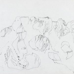 1974: Cortina | Buntstifte auf Papier (24 x 32,8 cm)