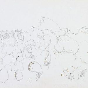 1974: Cortina | Buntstifte auf Papier (23,9 x 32,8 cm)
