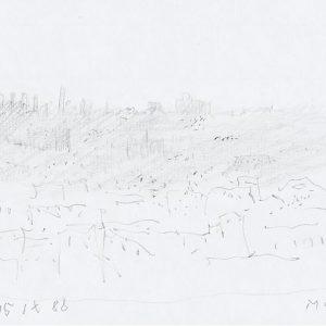 1988: Paris | Bleistift auf Papier (14,7 x 20,9 cm)