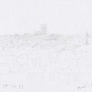 1988: Paris | Bleistift auf Papier (14,8 x 20,9 cm)