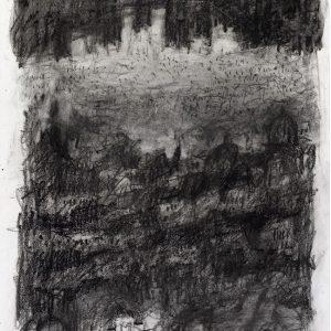 1990: Paris, La Città | Ölpastell auf Papier (36,5 x 31,4 cm)