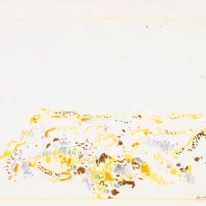 1965: Dalmatinische Landschaft| Pastell-Buntstifte auf Papier (24,5 x 33,3 cm)