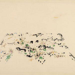 1967: Dalmatinische Landschaft| Pastell-Buntstifte auf Papier (50,2 x 65,8 cm)