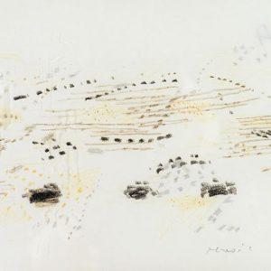 1957: Dalmatinische Landschaft| Pastell-Buntstifte auf Papier (16 x 24,1 cm)