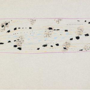 1958: Dalmatinische Landschaft| Pastell-Buntstifte auf Papier (15,9 x 23,1 cm)
