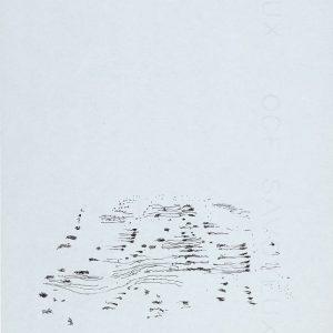 1958: Dalmatinische Landschaft| Tusche auf Papier (27 x 21 cm)