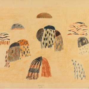 1954: Donne dalmate | Ölpastell auf Papier (35 x 48,8 cm)