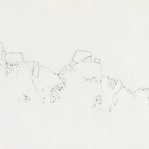 1968: Italienische Landschaften | Bleistift auf Papier (20,8 x 31,3 cm)