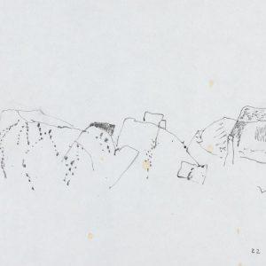 1968: Italienische Landschaften | Bleistift auf Papier (20,9 x 31 cm)