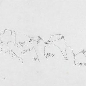 1968: Italienische Landschaften | Bleistift auf Papier (20,9 x 31,2 cm)