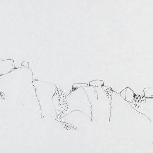 1968: Italienische Landschaften | Bleistift auf Papier (20,6 x 31,1 cm)