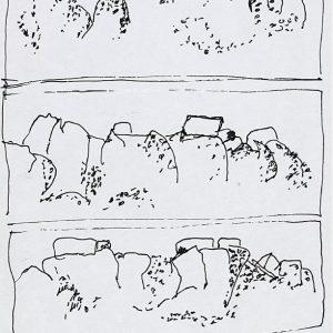 1968: Italienische Landschaften | Tusche auf Papier (21 x 13,5 cm)