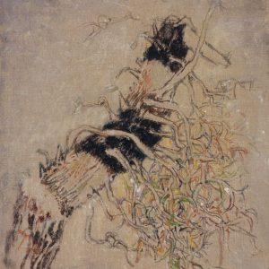 1972: Motif végétal | Acryl auf Leinwand (81 x 65 cm)