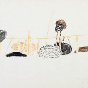 1954: Nasse a Chioggia | Buntstifte auf Papier (20,9 x 27,3 cm)