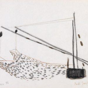 1956: Reti | Buntstifte auf Papier (20,9 x 27,3 cm)
