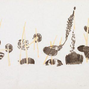1954: Nasse a Chioggia | Buntstifte auf Papier (21 x 27,5 cm)