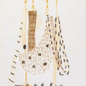 1956: Reti | Buntstifte auf Papier (27,2 x 21 cm)