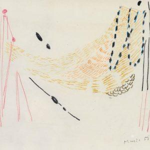 1956: Reti | Buntstifte auf Papier (21,2 x 26,8 cm)