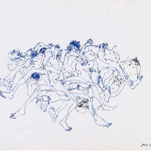 1970: Wir sind nicht die Letzten | Kugelschreiber auf Papier (16,8 x 22,6 cm)