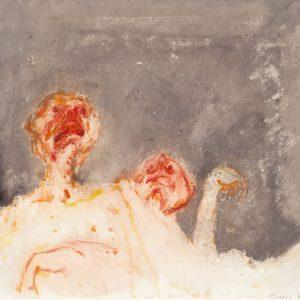 1970: Wir sind nicht die Letzten | Aquarell, Gouache, Pastel und Buntstift auf Papier (56 x 60 cm)