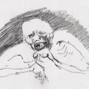 1971: Wir sind nicht die Letzten | Bleistift auf Papier (13,4 x 21 cm)