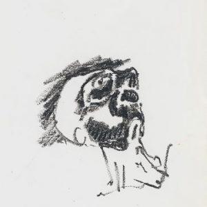 1972: Wir sind nicht die Letzten | Ölpastell auf Papier (28,8 x 18,5 cm)