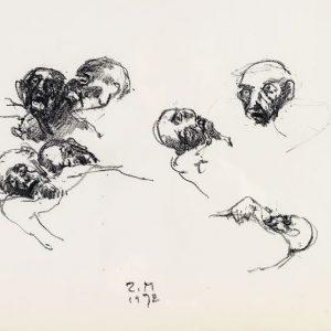 1972: Wir sind nicht die Letzten | Ölpastell auf Papier (28,2 x 38,1 cm)