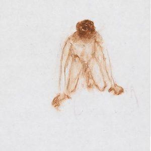 1973: Wir sind nicht die Letzten | Ölpastell auf Papier (18,4 x 14,8 cm)