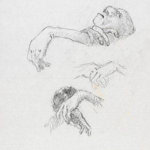 1973: Wir sind nicht die Letzten | Bleistift auf Papier (35 x 25,5 cm)