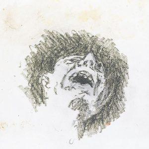 1973: Wir sind nicht die Letzten | Ölpastell auf Papier (29 x 24,5 cm)