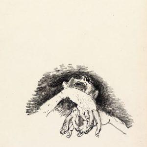 1974: Wir sind nicht die Letzten | Ölpastell auf Papier (26,5 x 17,6 cm)