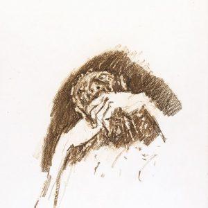1975: Wir sind nicht die Letzten | Ölpastell auf Papier (38,5 x 28 cm)