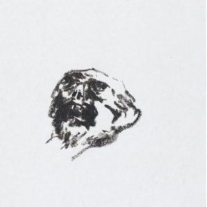 1975: Wir sind nicht die Letzten | Ölpastell auf Papier (24,4 x 13,9 cm)