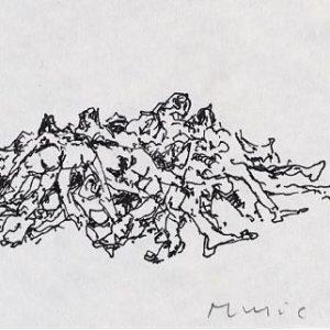 1987: Wir sind nicht die Letzten | Tusche auf Papier (7,5 x 10,6 cm)