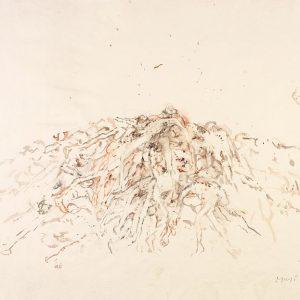 1987: Wir sind nicht die Letzten | Aquarell auf Papier (50 x 68,3 cm)